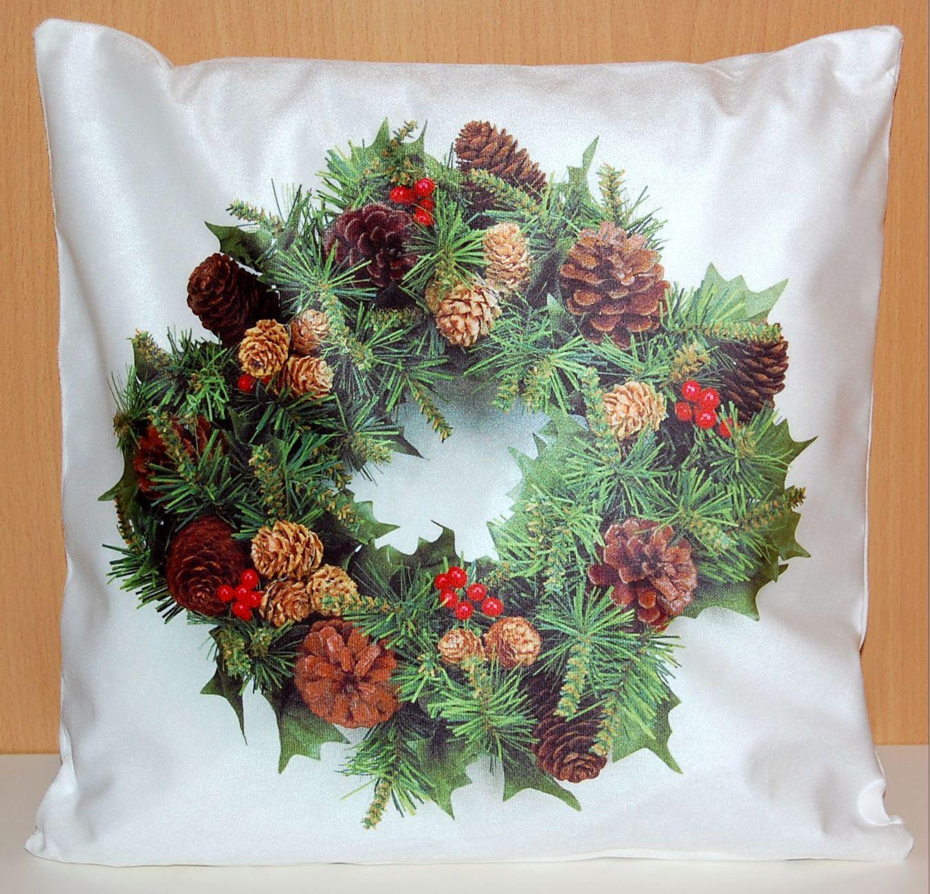 kissenh lle 40x40 cm weich weihnachten dekokissen sofakissen kissenbezug kissen ebay. Black Bedroom Furniture Sets. Home Design Ideas