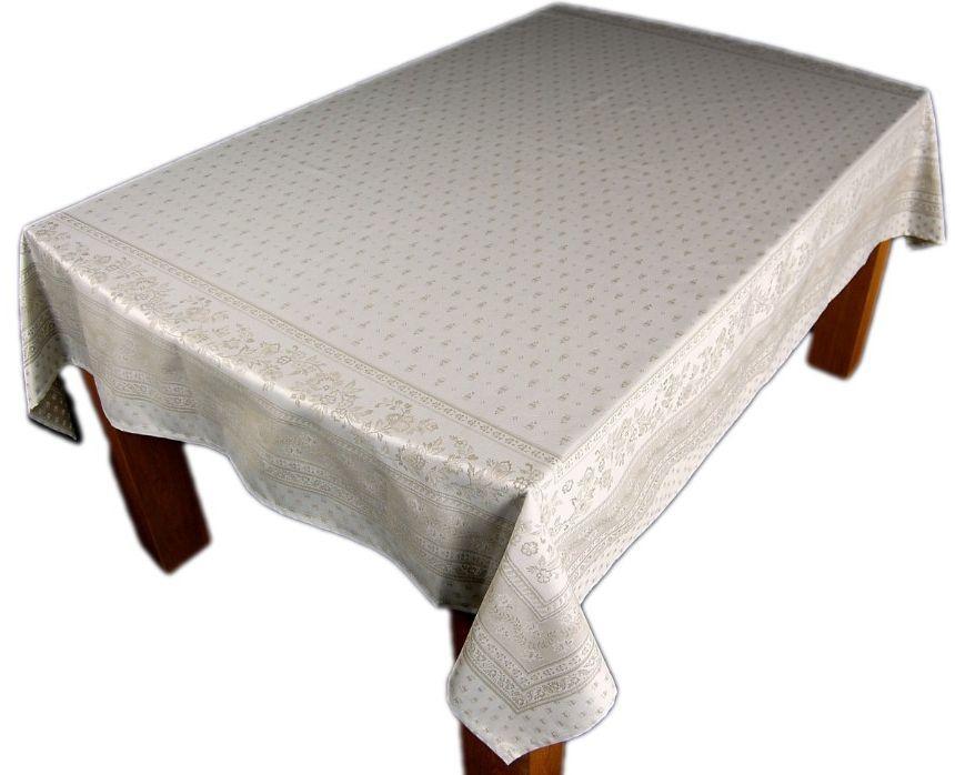 original tissus toselli nizza provence jacquard tischdecke teflon durance ecru ebay. Black Bedroom Furniture Sets. Home Design Ideas