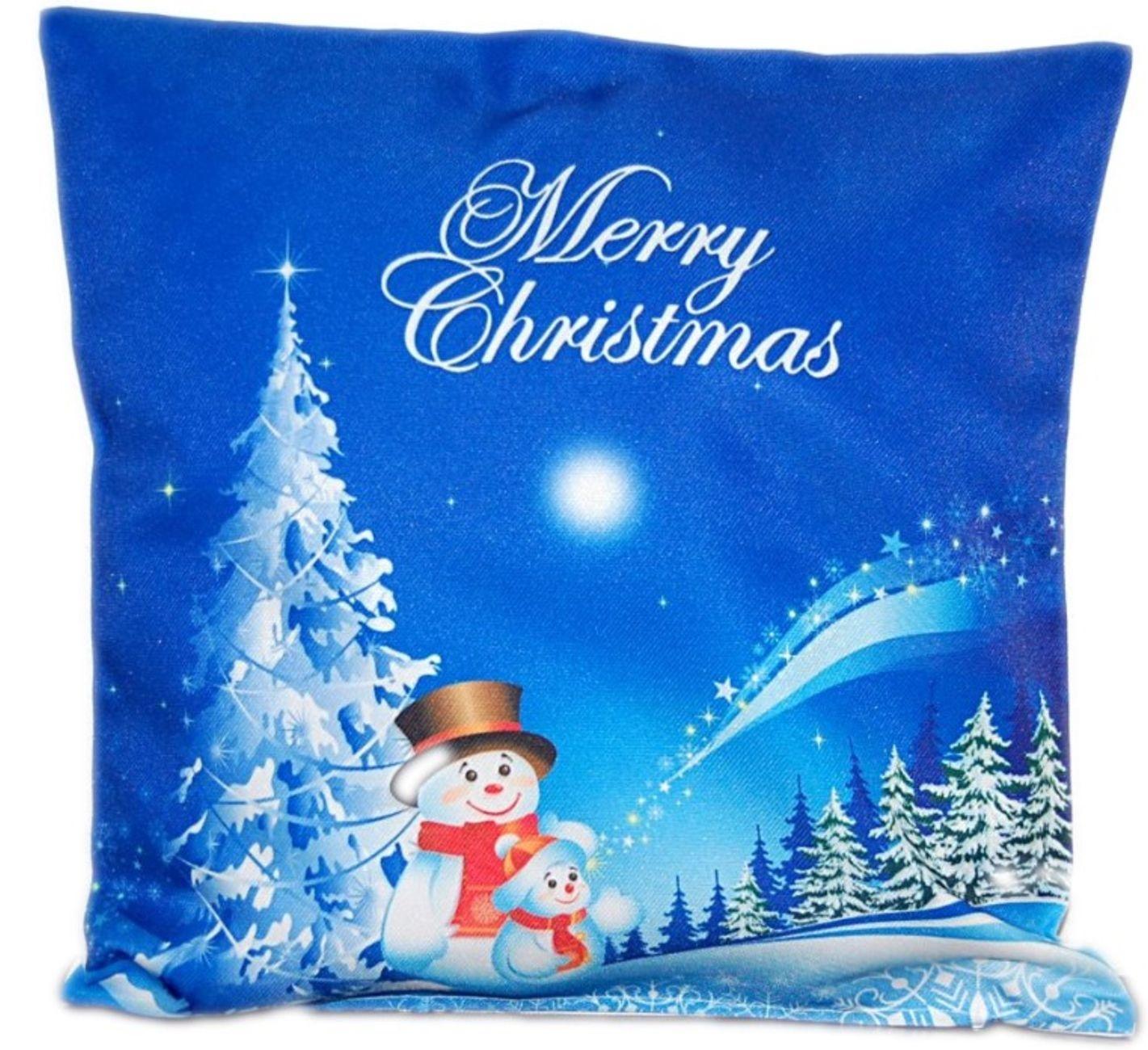 kissen 40x40 cm kissenh lle weihnachten kissenbezug weihnachtkissen zierkissen ebay. Black Bedroom Furniture Sets. Home Design Ideas