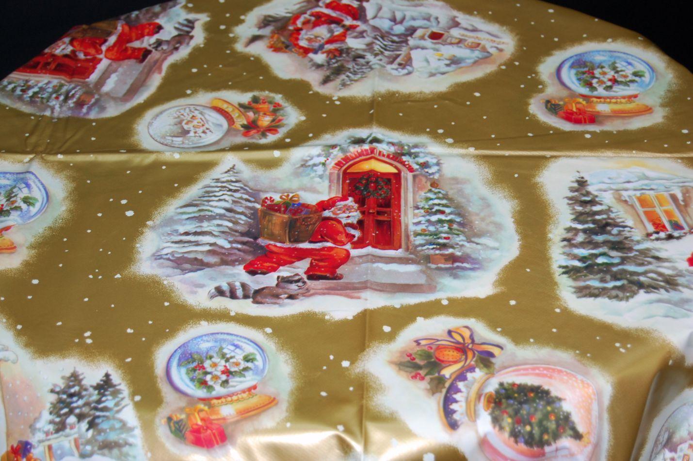 tischdecke 140 cm rund weihnachten wachstuch k chendecke weihnachtstischdecke. Black Bedroom Furniture Sets. Home Design Ideas
