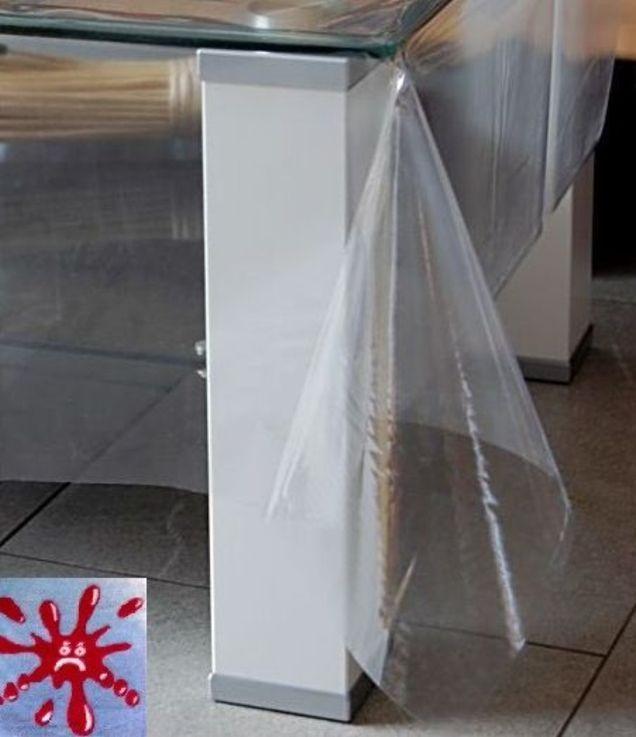 schutzdecke eckig wasserdicht abwaschbar transparent klarsicht foliendecke k che ebay. Black Bedroom Furniture Sets. Home Design Ideas