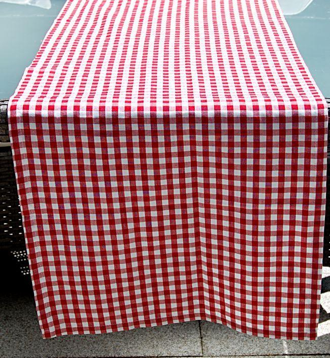 landhaus tischdecke garten rot wei kariert tischl ufer karo pflegeleicht l ufer ebay. Black Bedroom Furniture Sets. Home Design Ideas