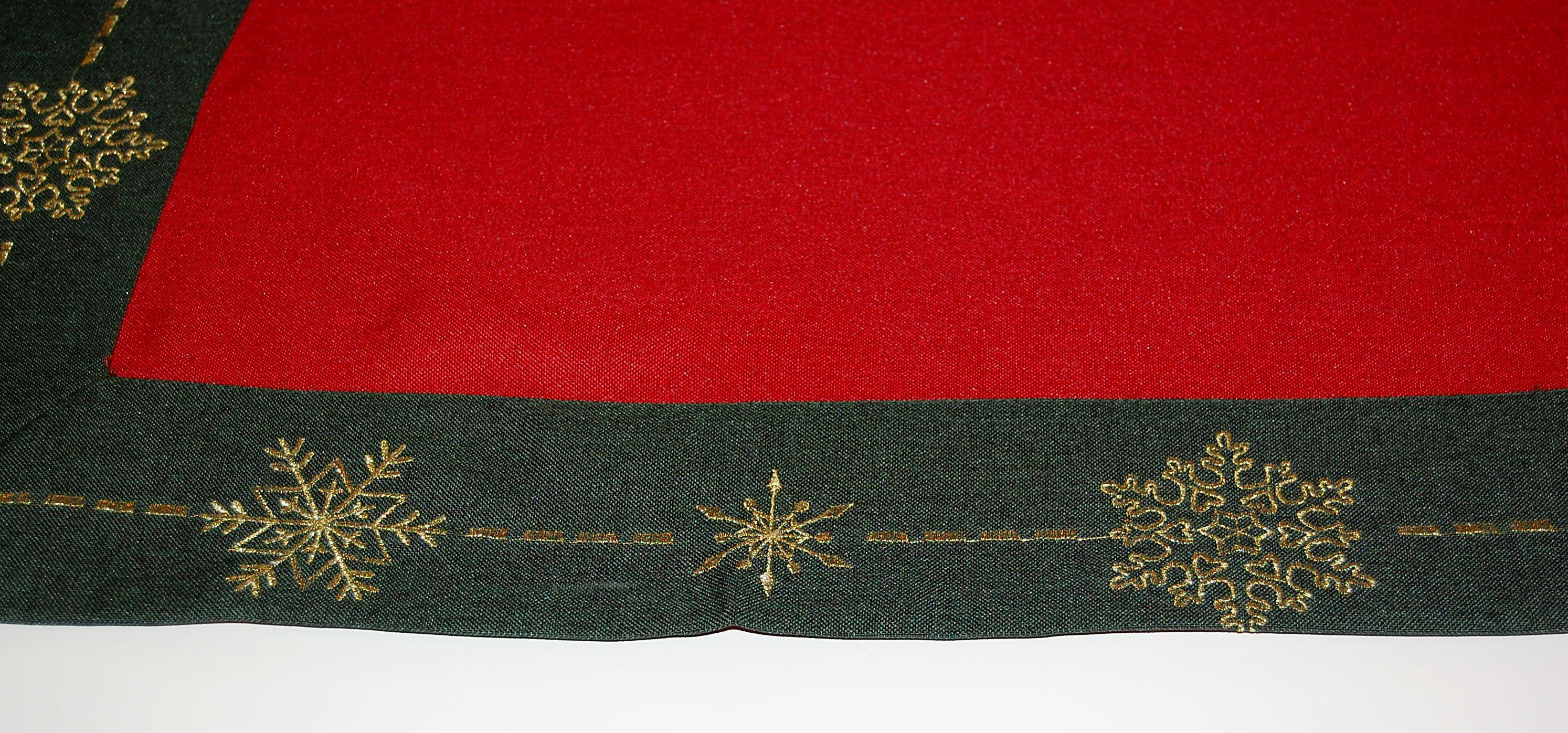 tischdecke weihnachten rot gr n gold bestickt tischl ufer mitteldecke klassisch ebay. Black Bedroom Furniture Sets. Home Design Ideas