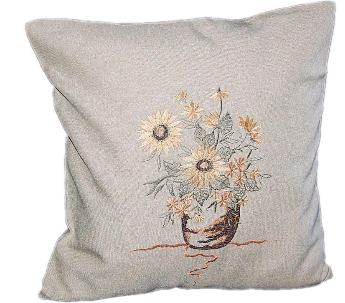 tischdecke beige sonnenblume spitze tischl ufer kissenbezug l ufer decke kissen ebay. Black Bedroom Furniture Sets. Home Design Ideas