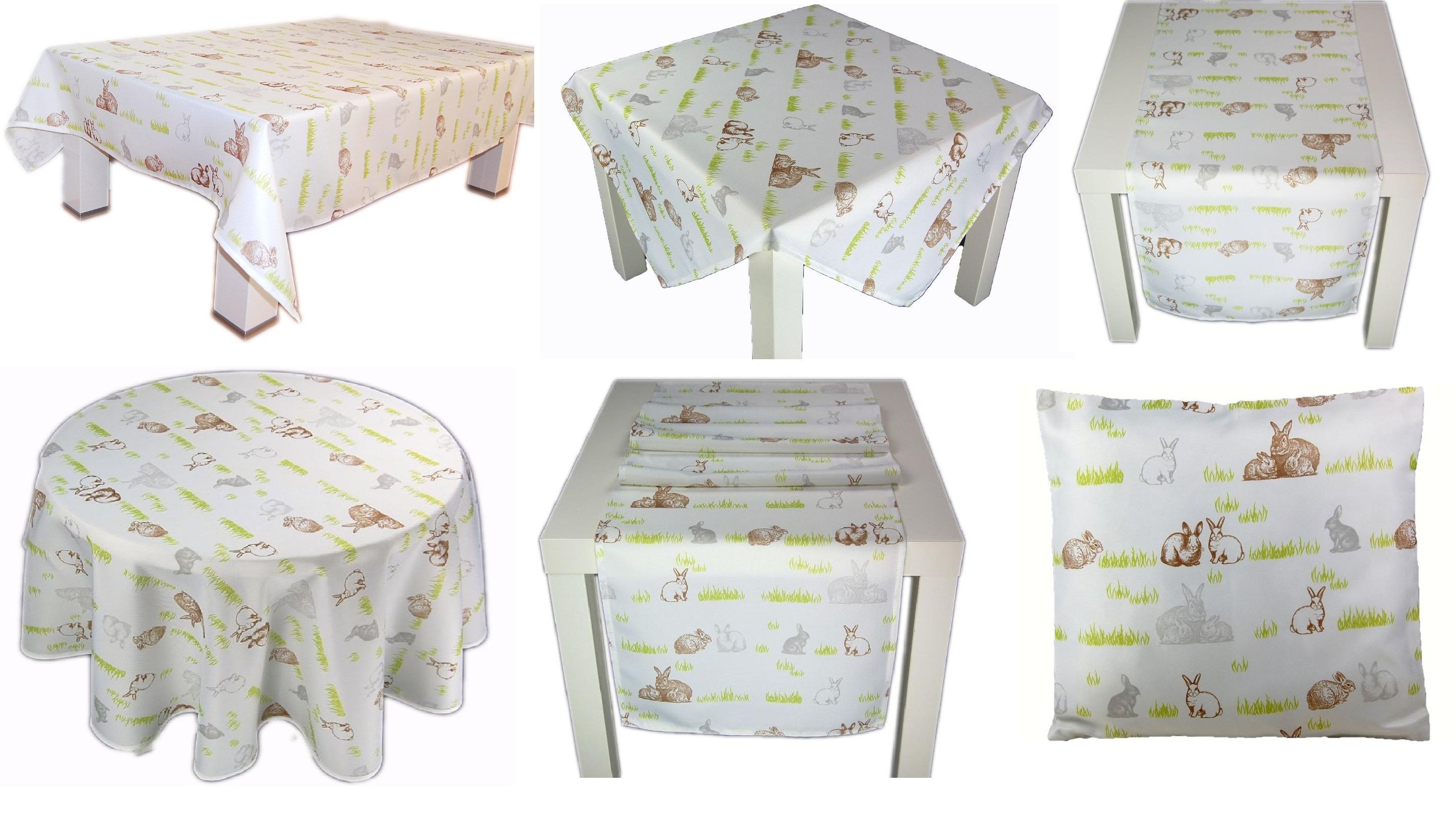 Tischdecke Leinen Decke Läufer Frühling Vintage Tischläufer Kissenhülle Kissen