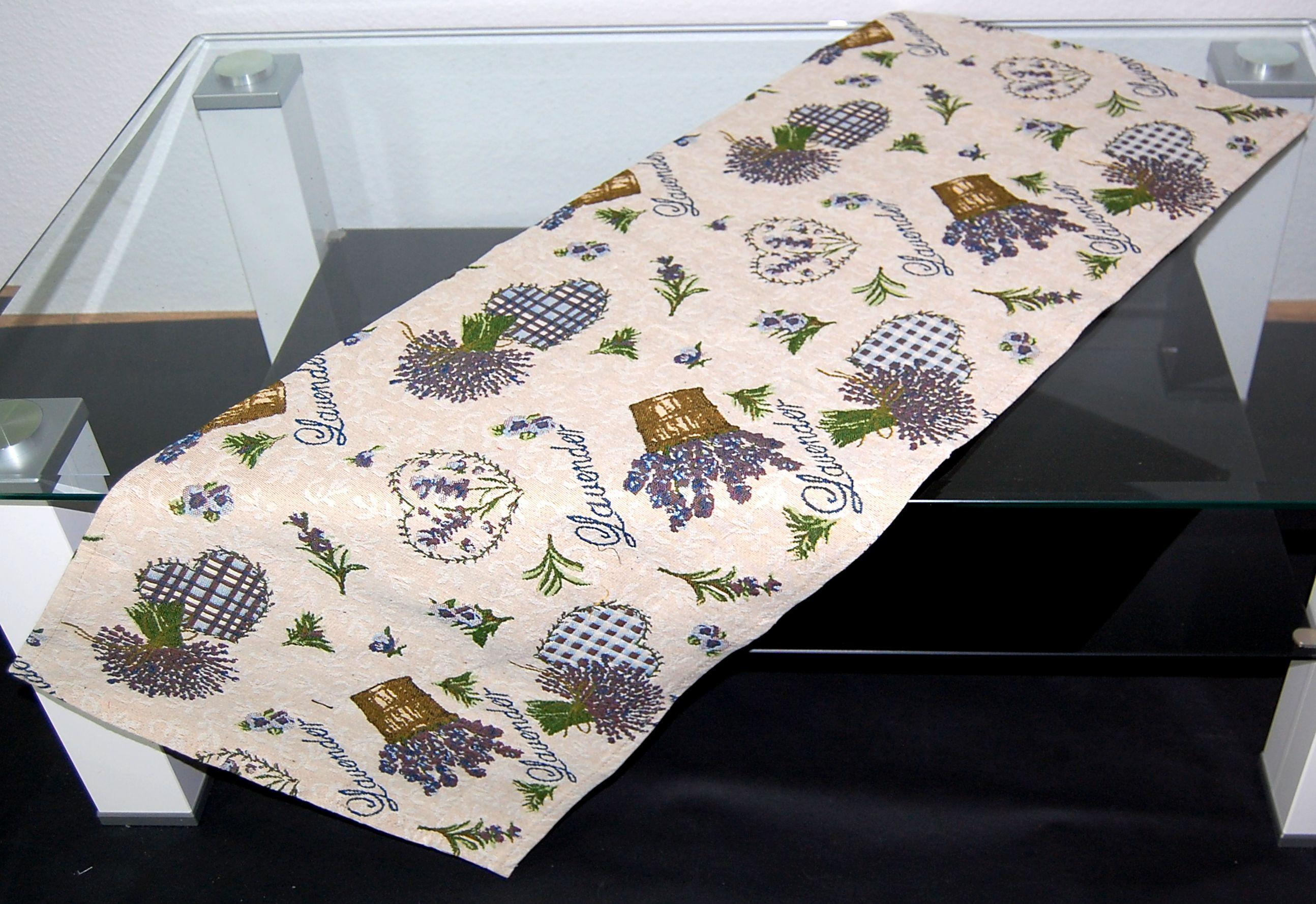 tischdecke gobelin tischl ufer mitteldecke lavendel. Black Bedroom Furniture Sets. Home Design Ideas