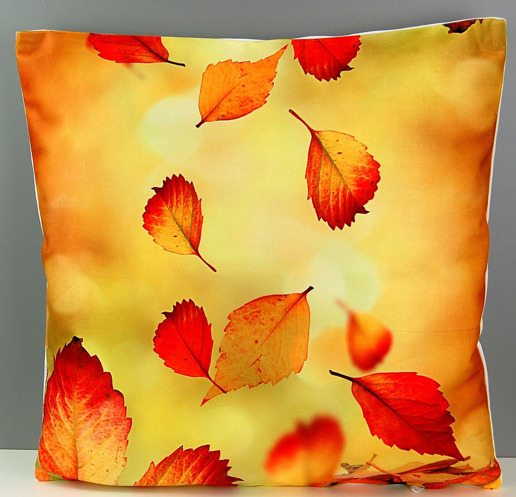 kissenh lle 40x40 cm kissenbezug herbst sofakissen kissen bunt bl tter sunflower ebay. Black Bedroom Furniture Sets. Home Design Ideas