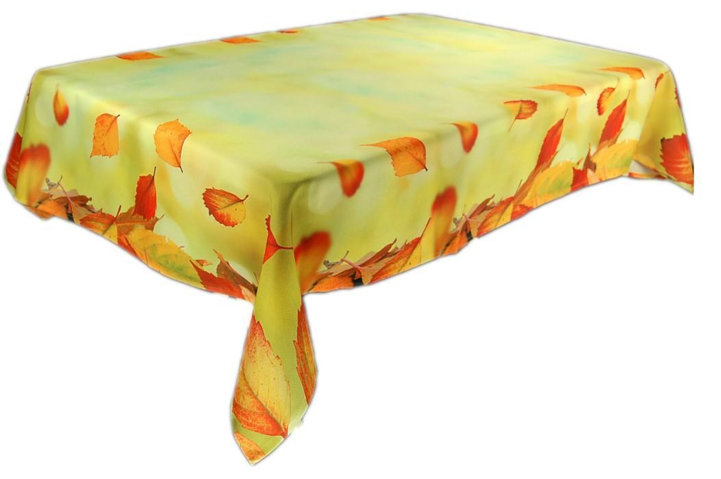 tischdecke pflegeleicht hellgr n bl tter blatt bunt herbst. Black Bedroom Furniture Sets. Home Design Ideas