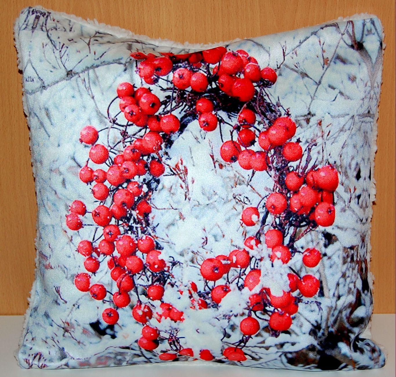 fotokissen 50x50 cm weihnachten kissenh lle pl schkissen. Black Bedroom Furniture Sets. Home Design Ideas