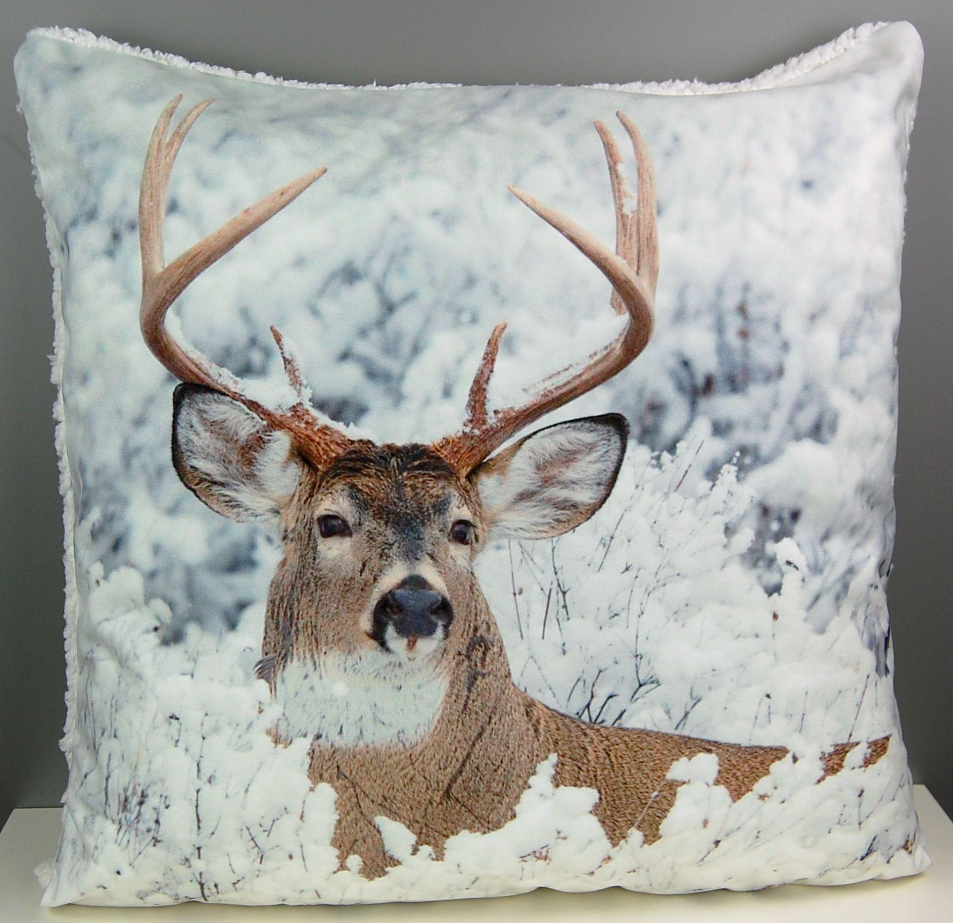 fotokissen 50x50 cm weihnachten kissenh lle pl schkissen kissenbezug kissen sofa ebay. Black Bedroom Furniture Sets. Home Design Ideas