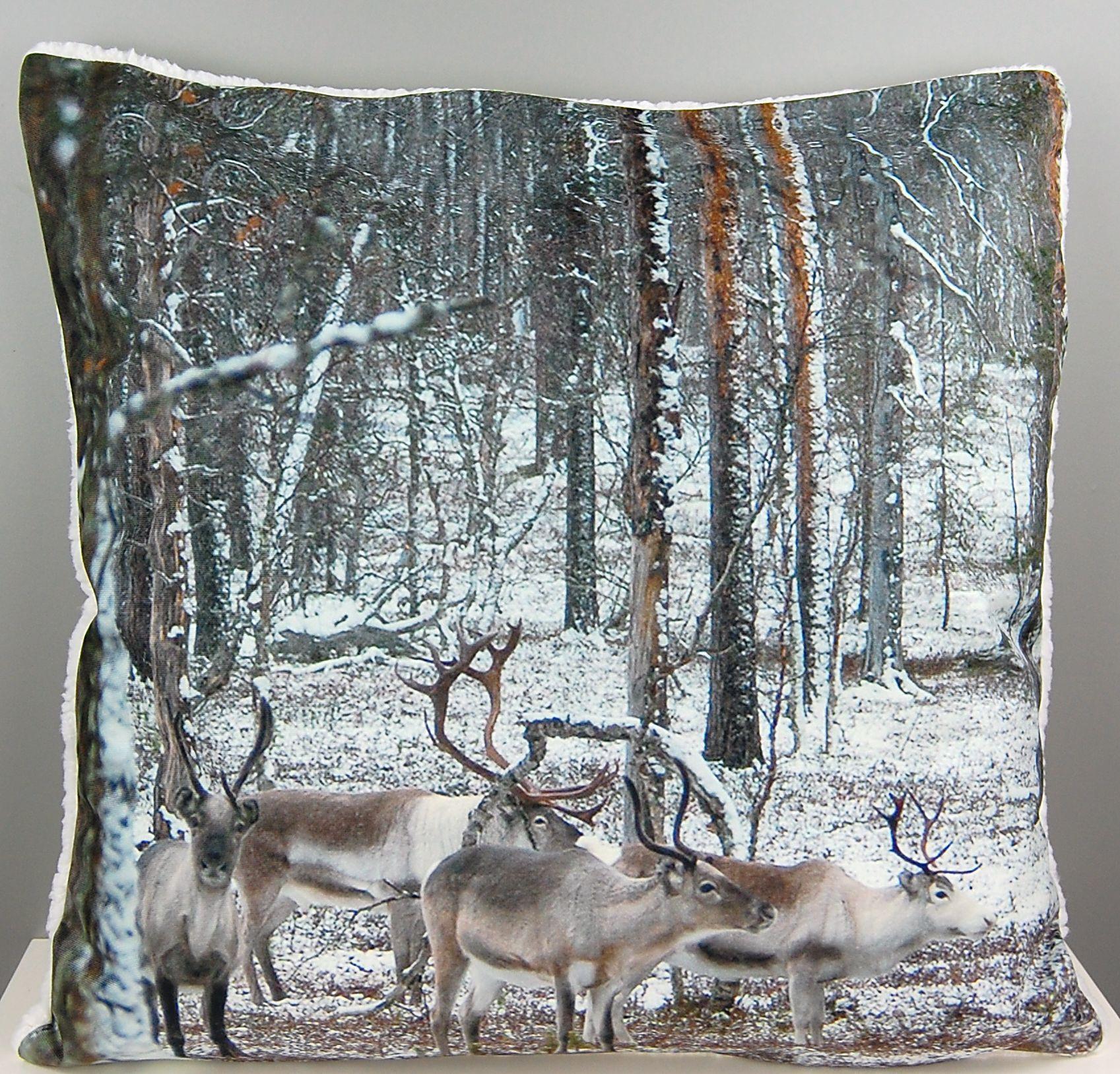 Fotokissen 50x50 cm weihnachten kissenh lle pl schkissen for Sofa 50 cm sitzhohe