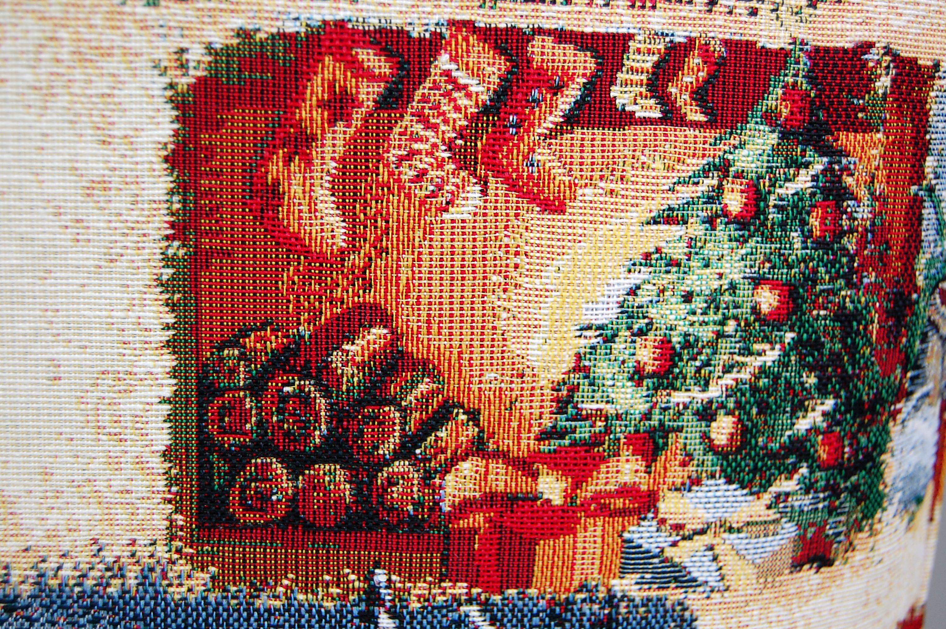 Nostalgische Weihnachtsmotive.Tischdecke Weihnachten Gobelin Christmas Nostalgie Läufer Decke