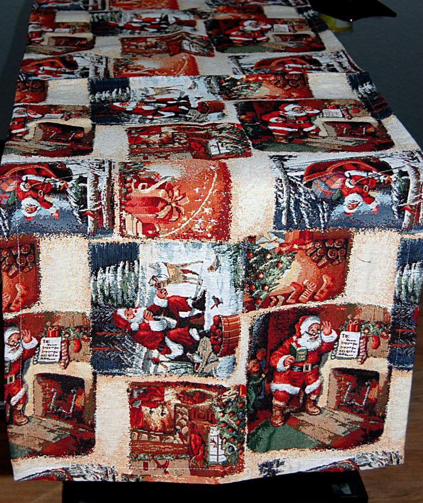 Tischdecke WEIHNACHTEN Gobelin Christmas Nostalgie Läufer Decke ...