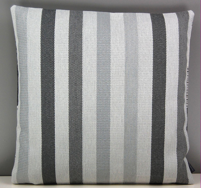 hossner kissenh lle meike taupe kreise streifen grau wei kissenbezug sofakissen ebay. Black Bedroom Furniture Sets. Home Design Ideas