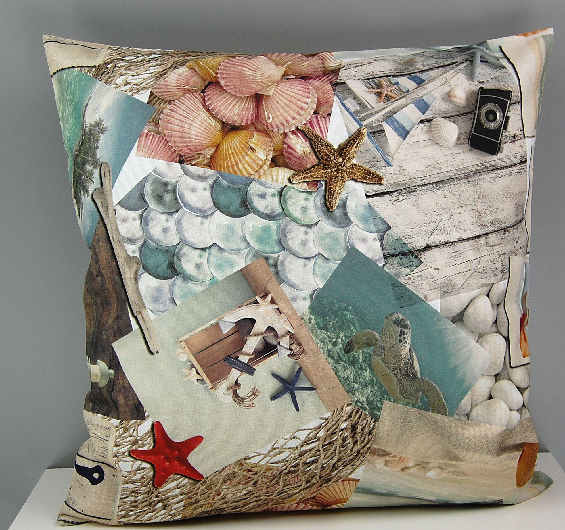hossner kissenh lle shellfish nautik strand bunt. Black Bedroom Furniture Sets. Home Design Ideas