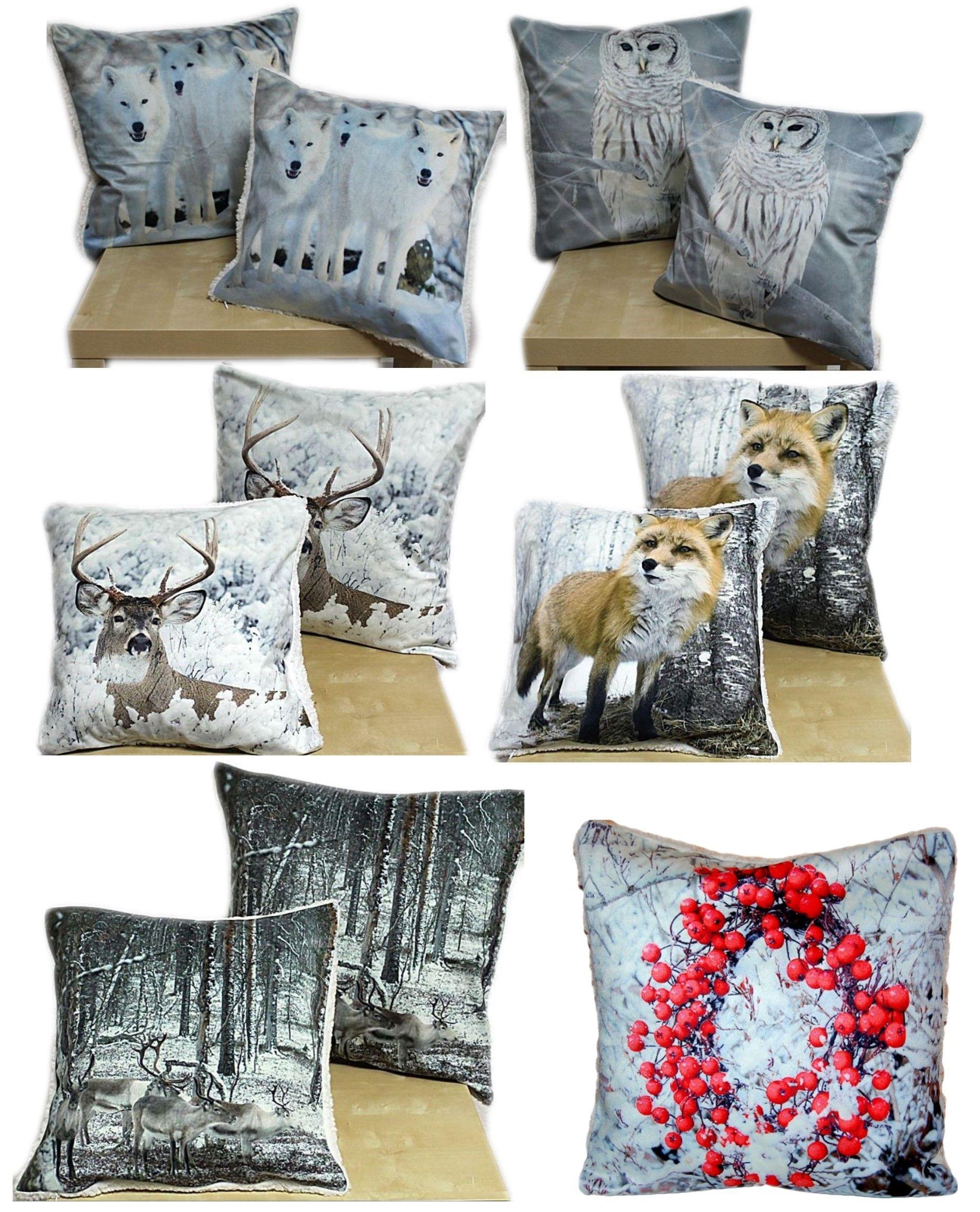 gobelin kissenh lle 45 x 45 cm weihnachten kissen kinder hund katze schneemann ebay. Black Bedroom Furniture Sets. Home Design Ideas