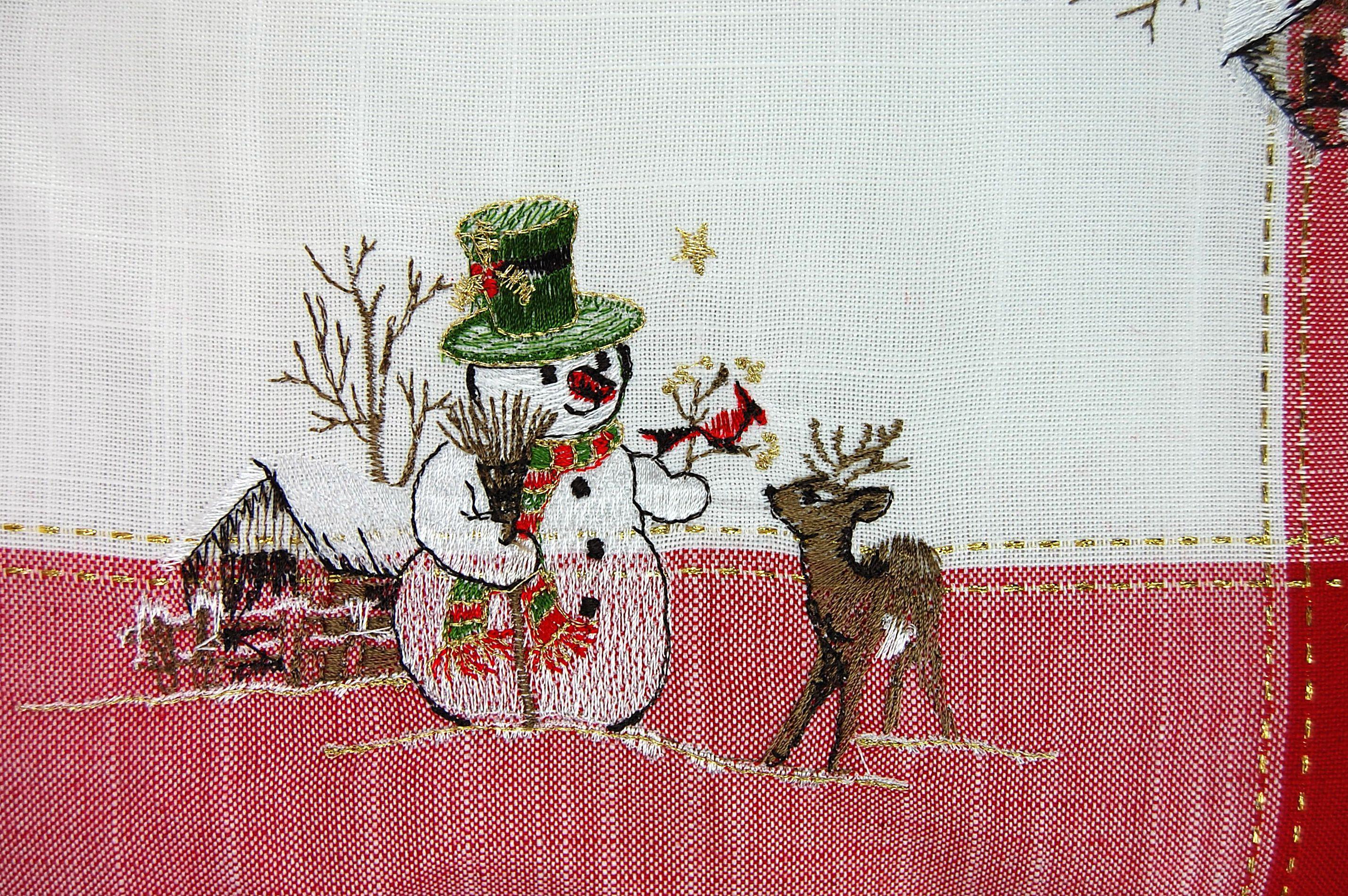 kissenh lle 40 cm x 40 cm weihnachten schneemann reh rot wei kissenbezug kissen ebay. Black Bedroom Furniture Sets. Home Design Ideas