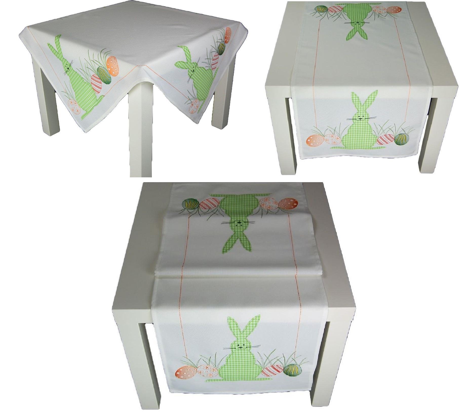 tischdecke ostern hellgr n mitteldecke osterdecke. Black Bedroom Furniture Sets. Home Design Ideas