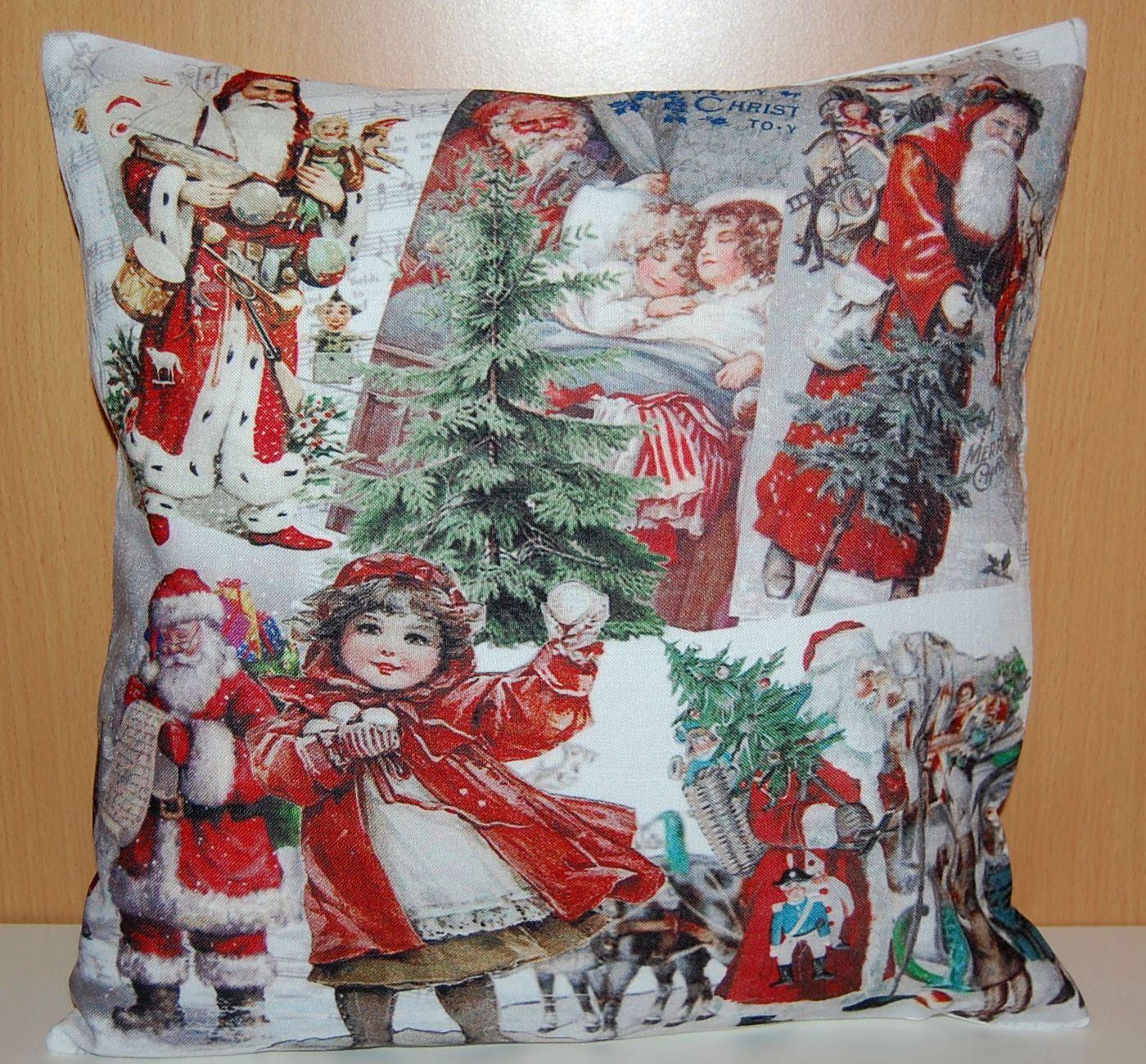 kissenh lle 40 x 40 cm sofakissen weihnachten nostalgie. Black Bedroom Furniture Sets. Home Design Ideas