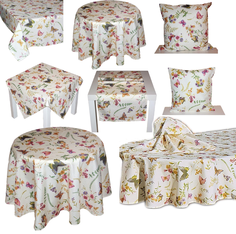 Tischdecke Tischläufer Kissenhülle Mitteldecke Deckchen Decke Läufer Beige Pink
