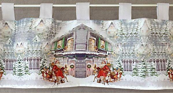 Scheibengardine 30 cm x 150 cm weihnachten weihnachtsmann bistrogardine gardine ebay - Bistrogardine weihnachten ...