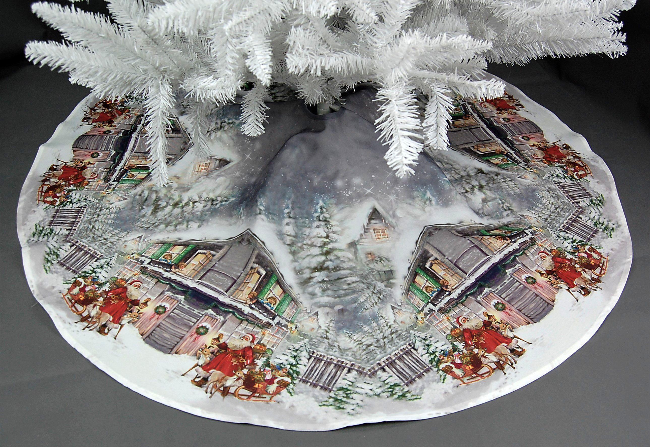 Baumdecke-Weihnachtsbaumdecke-Christbaumdecke-Baumschuerze-Schutzdecke-Santa-Bunt