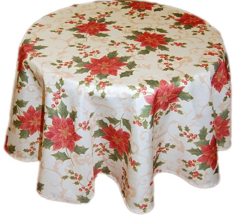 tablecloth christmas easy care advent star dusky pink table runner cushion cover ebay. Black Bedroom Furniture Sets. Home Design Ideas