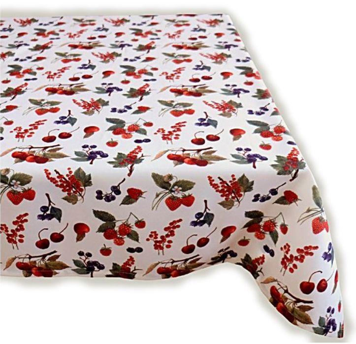 tischdecke pflegeleicht beeren obst tischl ufer tischtuch. Black Bedroom Furniture Sets. Home Design Ideas