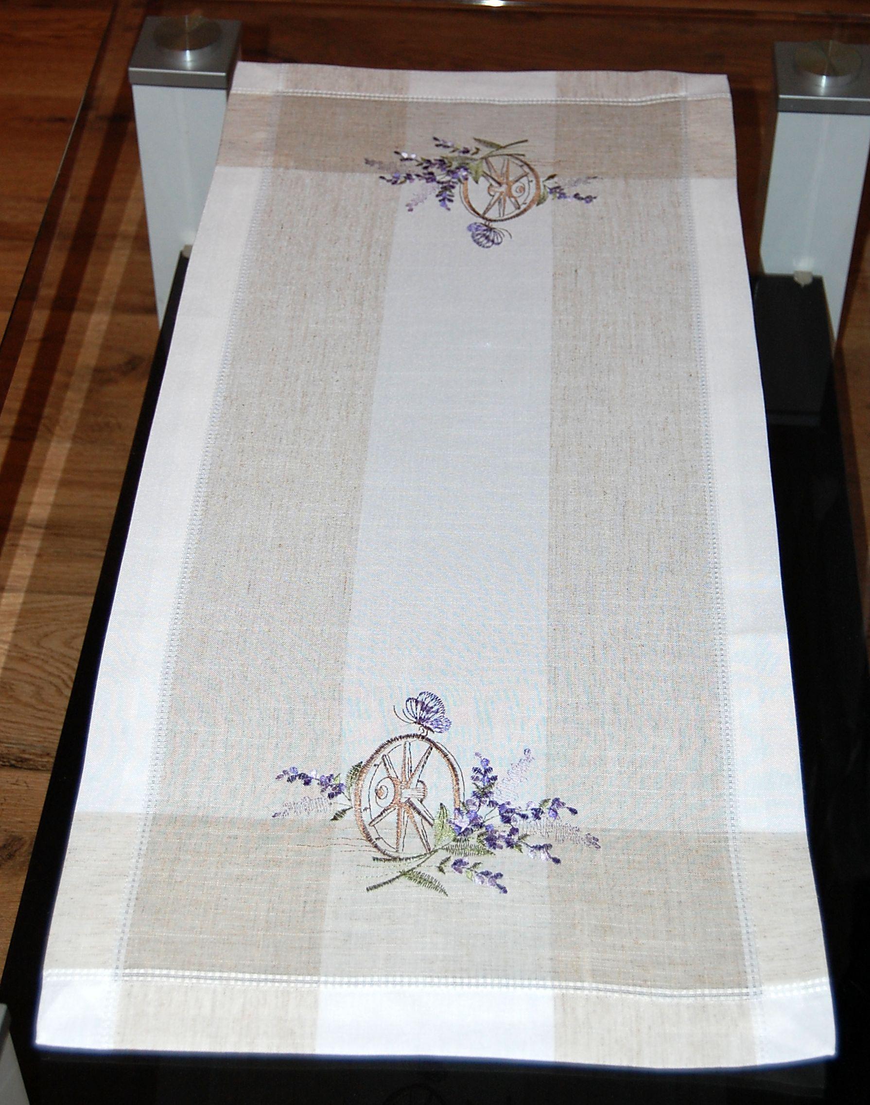 tischdecke leinenoptik natur lavendel mediterran. Black Bedroom Furniture Sets. Home Design Ideas