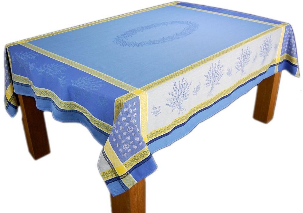 tischdecke baumwolle teflon lavendel blau provence tafeltuch france gartentisch ebay. Black Bedroom Furniture Sets. Home Design Ideas
