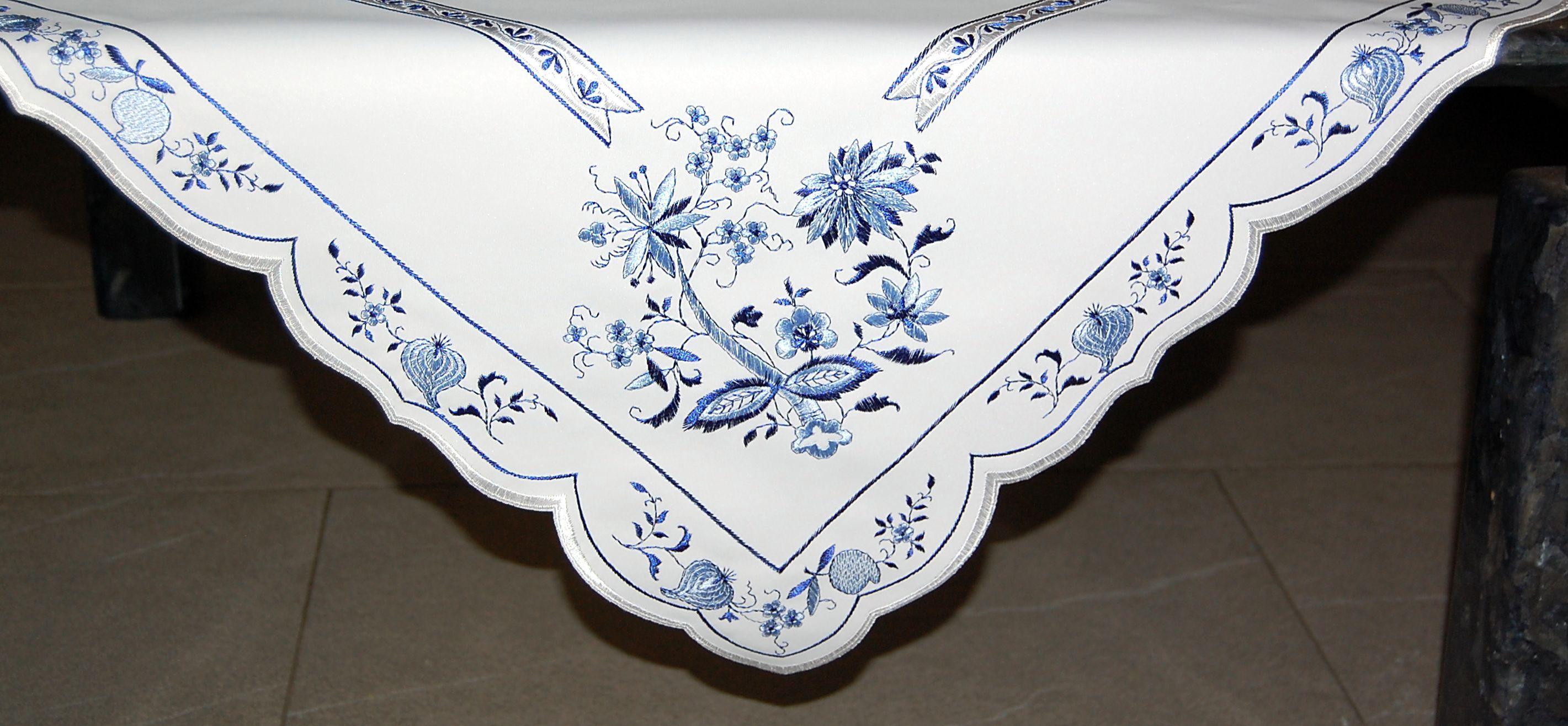 PLAUENER SPITZE Tischdecke Tischdeckchen OSTERN 26cm OSTERHÄSCHEN Deckchen HASE