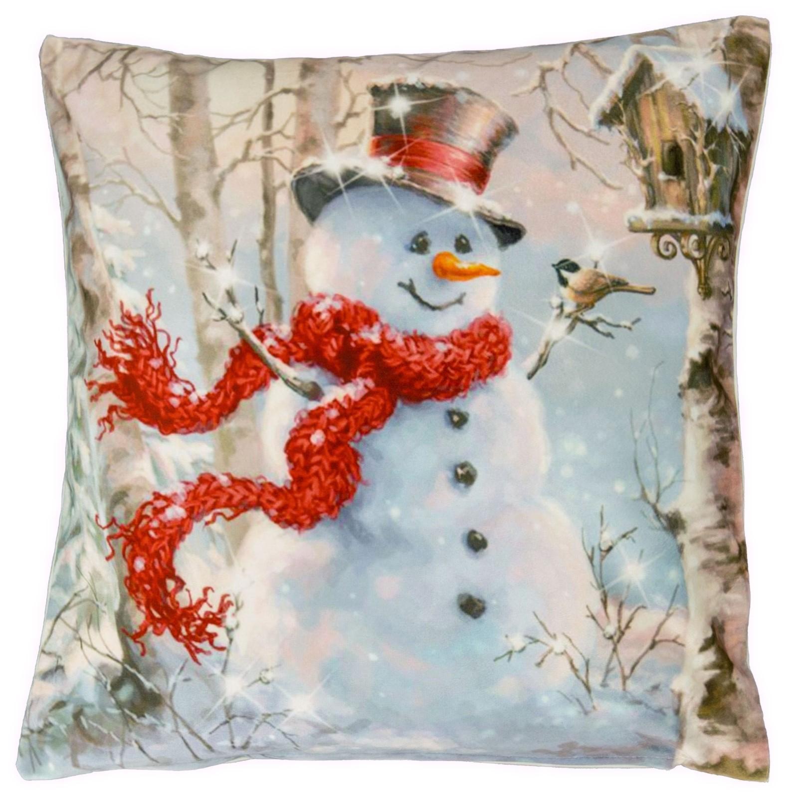 Kissenhülle Weihnachten Kissenbezug Dekokissen 40x40 Cm