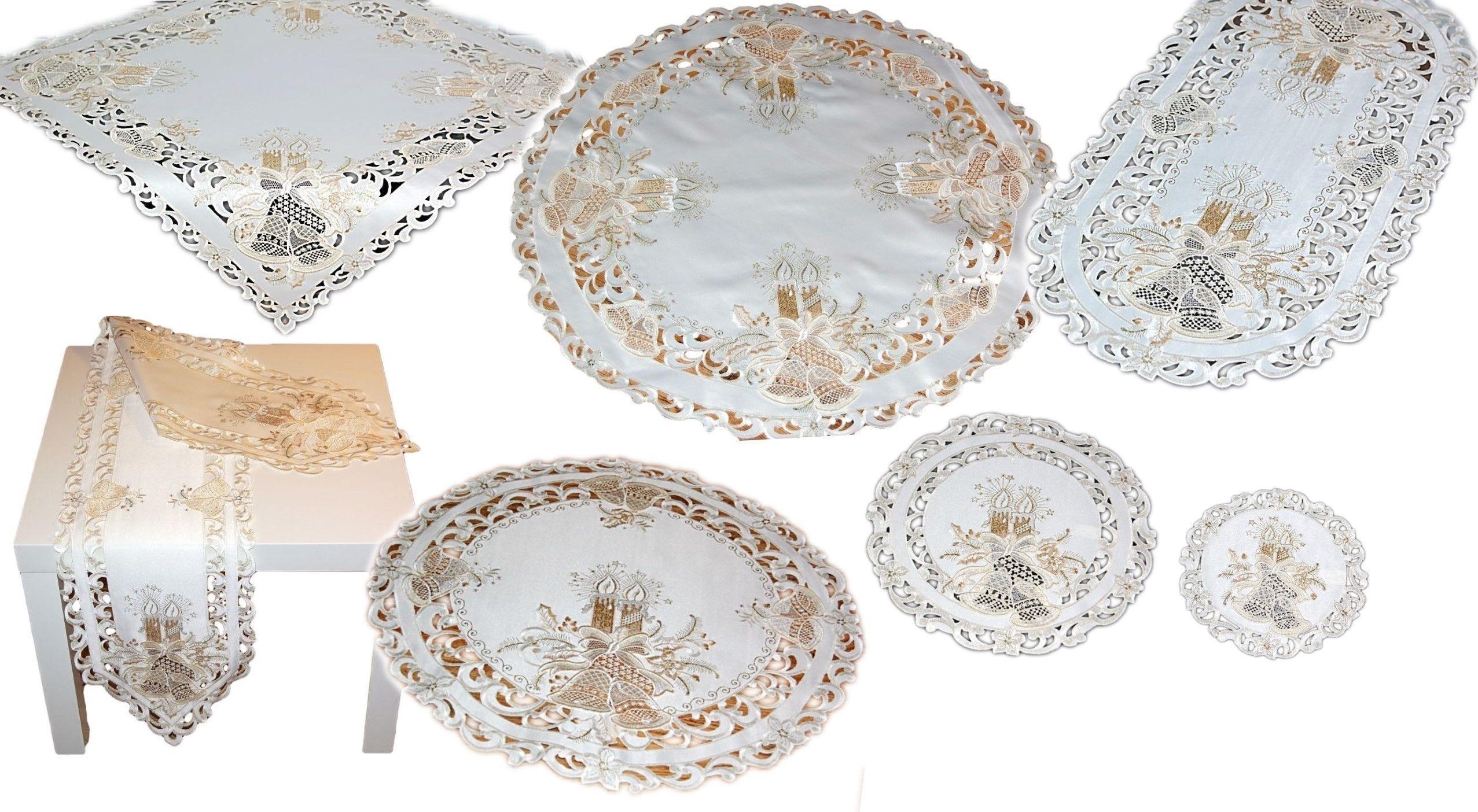 tischdecke 40x160 cm beige breite spitze tischl ufer. Black Bedroom Furniture Sets. Home Design Ideas