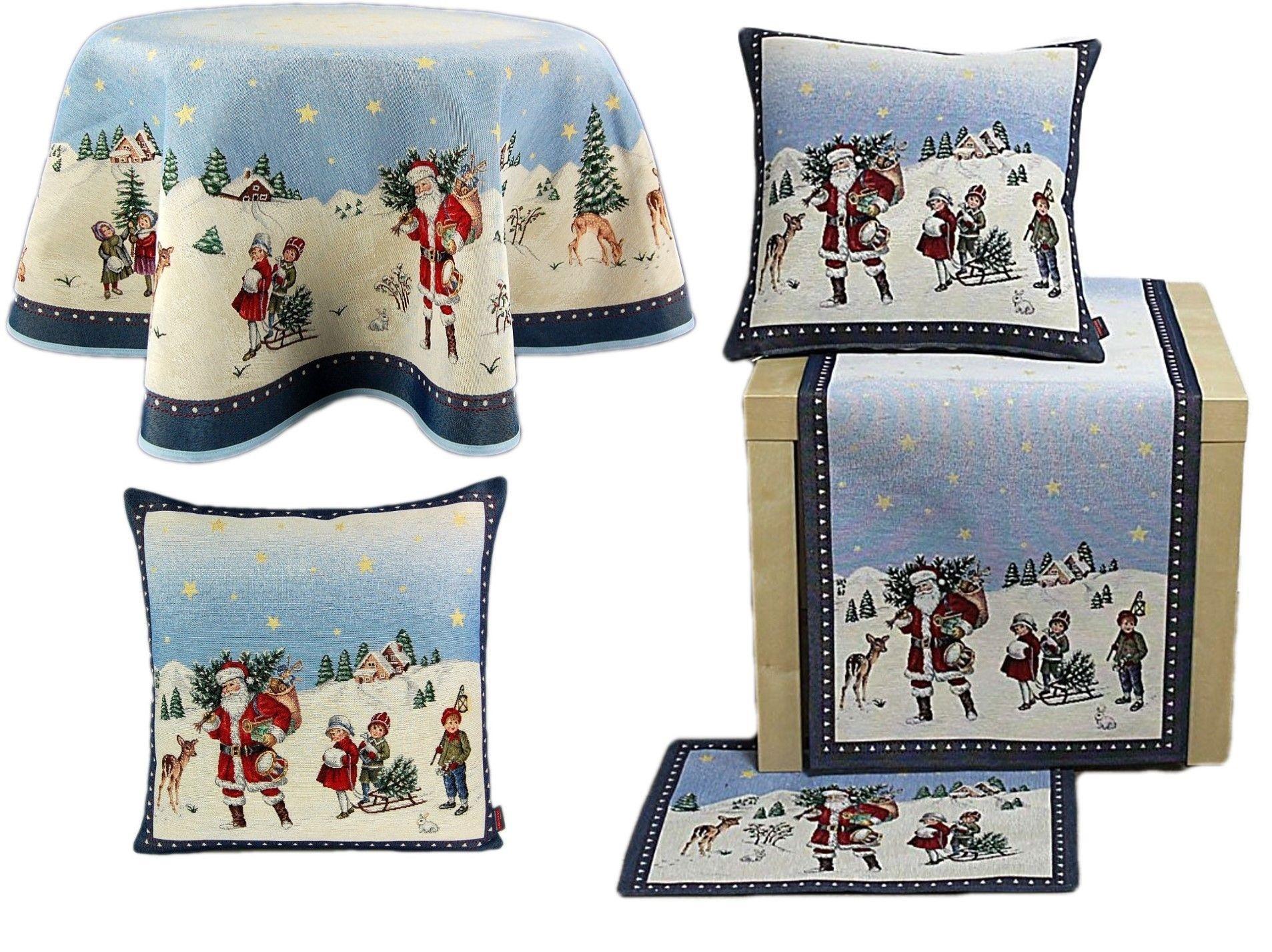 Tischdecke WEIHNACHTEN Gobelin Christmas Nostalgie Läufer Decke Tischläufer