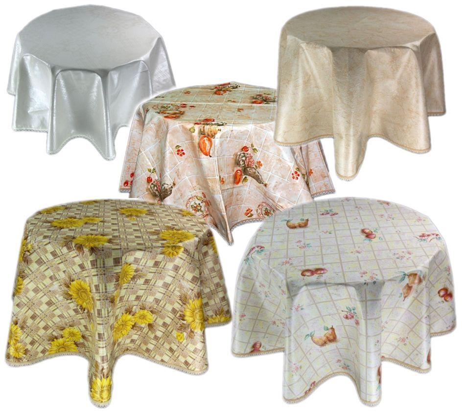 wachstuch m spitze tischdecke 140 cm rund abwaschbar k che garten aus th ringen ebay. Black Bedroom Furniture Sets. Home Design Ideas