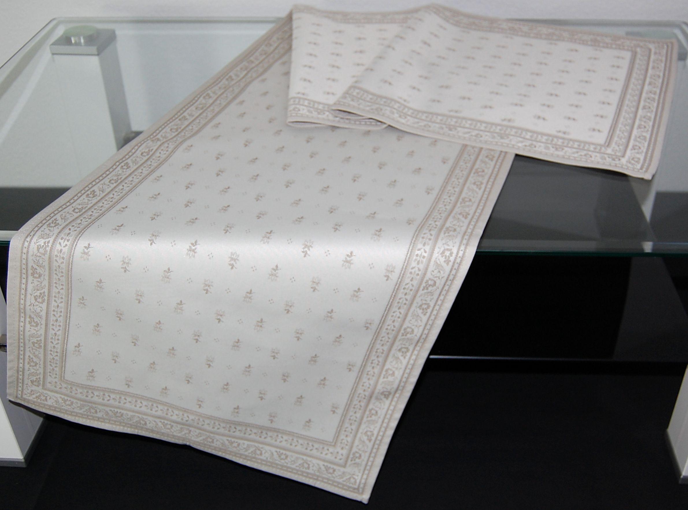 tischdecke 45x155 cm baumwolle teflon toselli provence durance ecru tischl ufer ebay. Black Bedroom Furniture Sets. Home Design Ideas