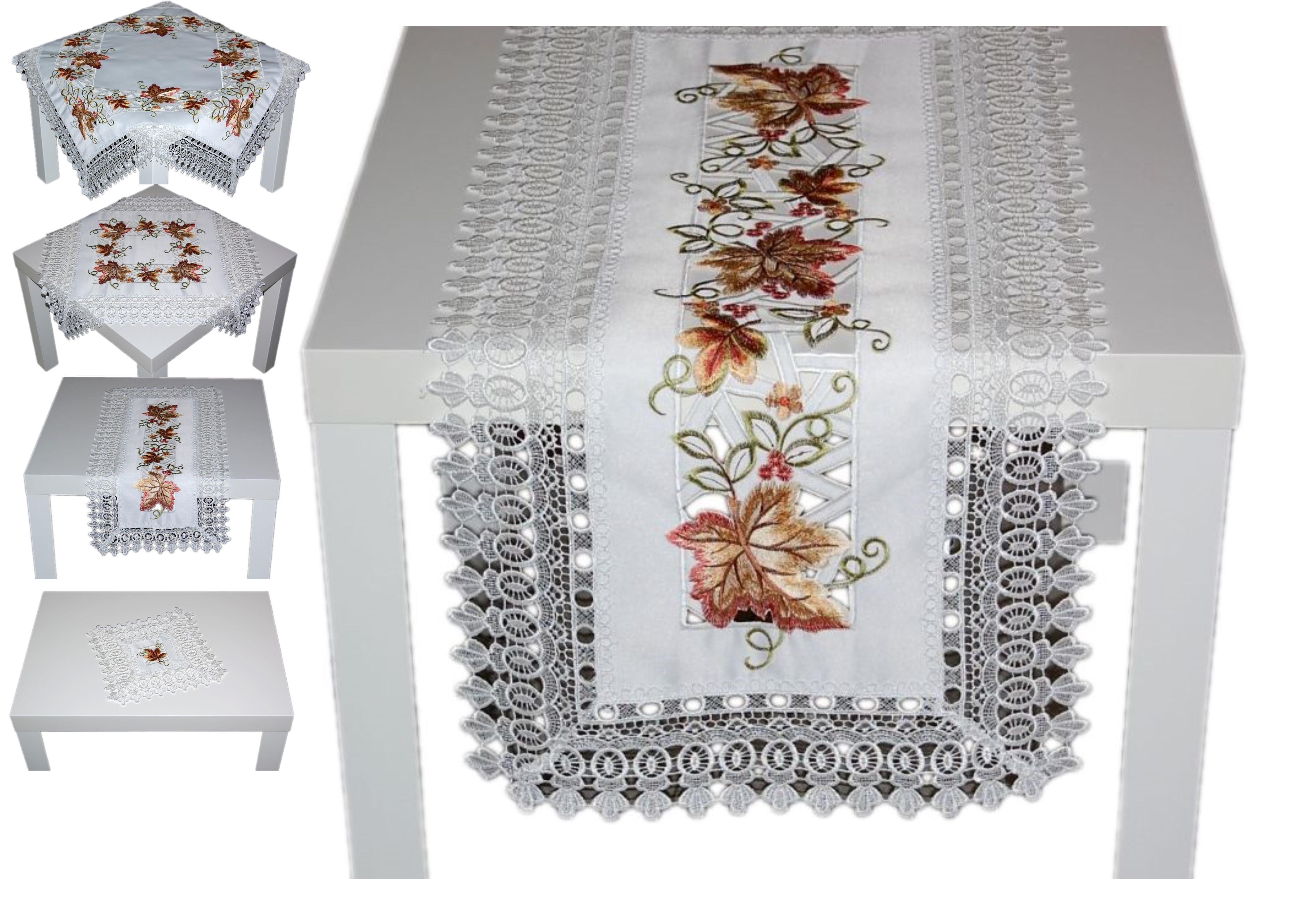 STICKEREI Tischläufer ALLZEIT Tischdeckchen GRÜN Tischdecke Deckchen 40x140cm