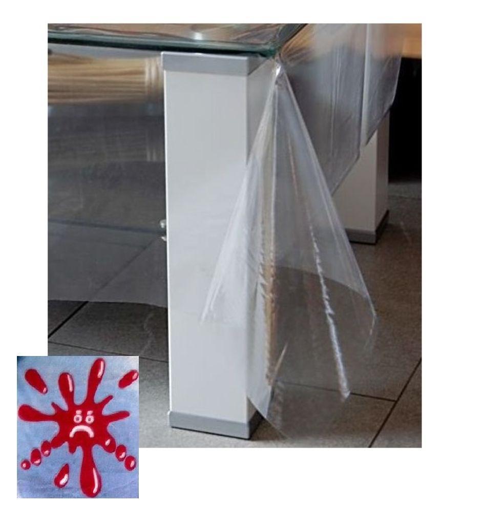 tischdecke tischschutz wasserdicht abwaschbar folie decke schutzdecke tischtuch ebay. Black Bedroom Furniture Sets. Home Design Ideas